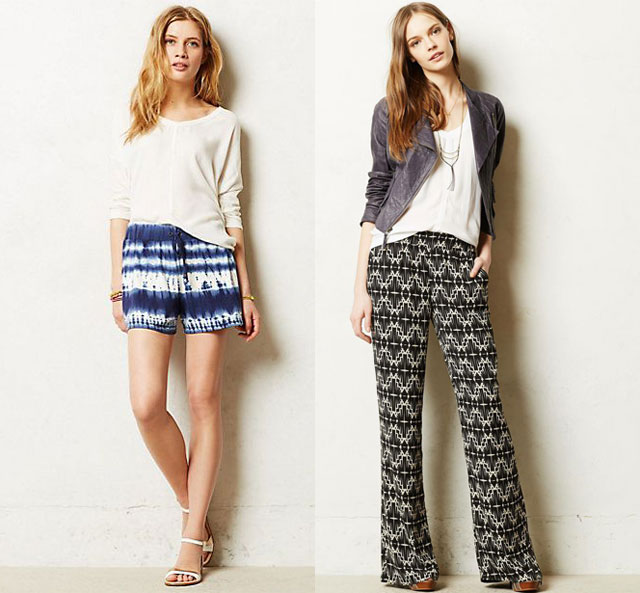 anthropologie printed pants