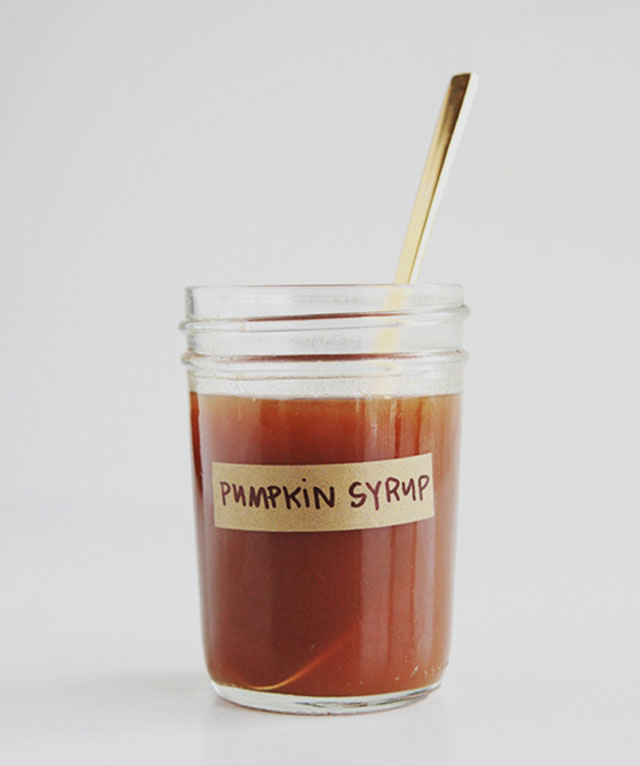 Spiced pumpkin coffee syrup